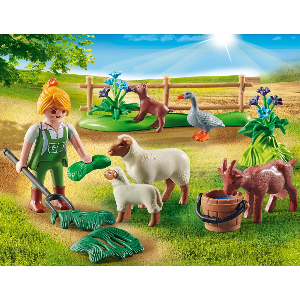 Playmobil 70608 Country Boerin met Weidedieren