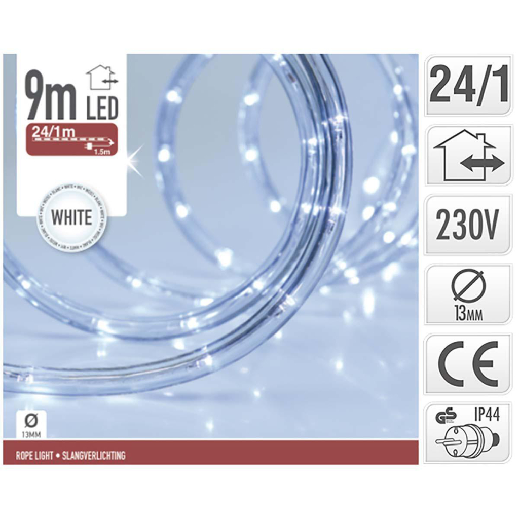 S.I.A. LED Lichtslang Wit 9M IP44