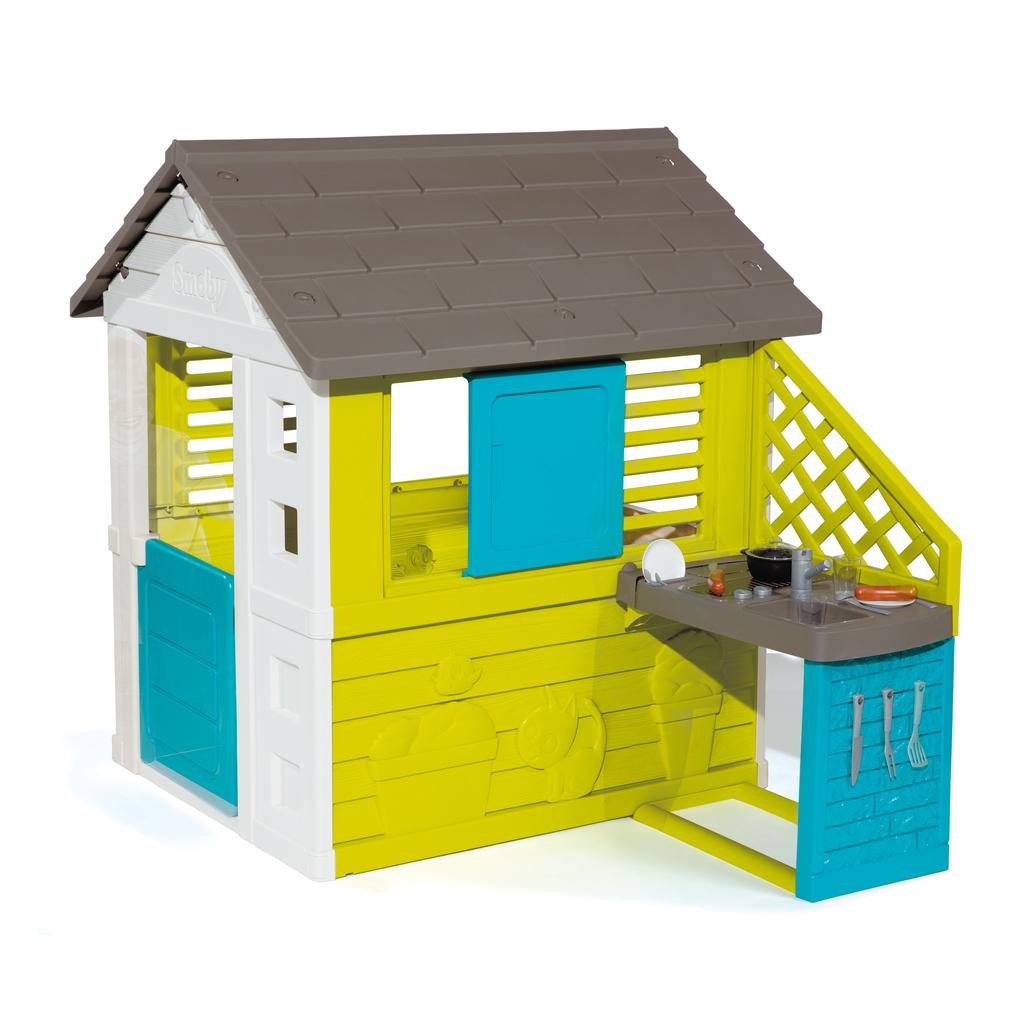 Smoby Pretty Speelhuis met Keuken + 17 Accessoires