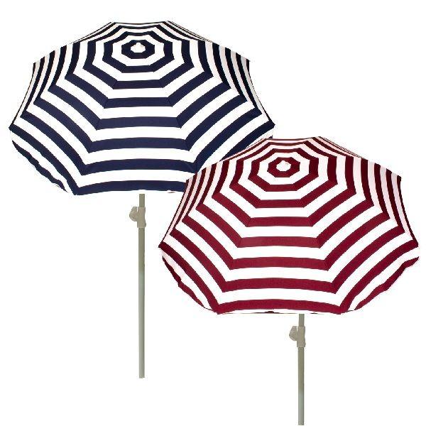 Summertime Parasol Streep + Knik 180cm Assorti