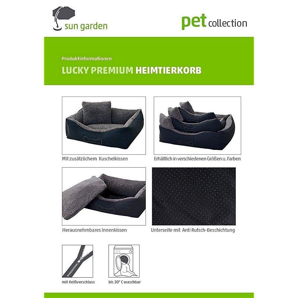 Sun Garden Luxe Hondenmand Lucky + Kussen 59x67x20 cm Bruin/Beige