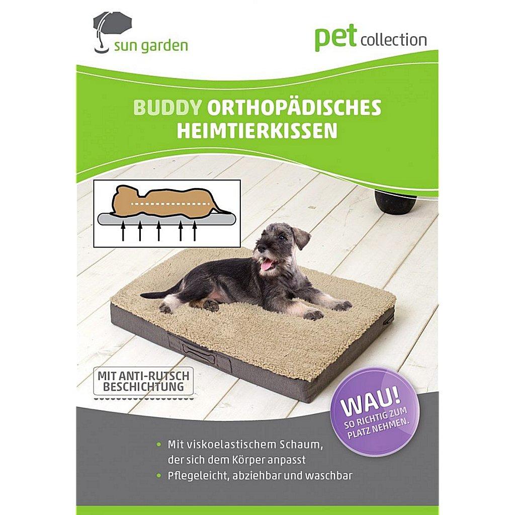 Sun Garden Buddy Orthopedisch Hondenkussen 79x60x8cm Antraciet
