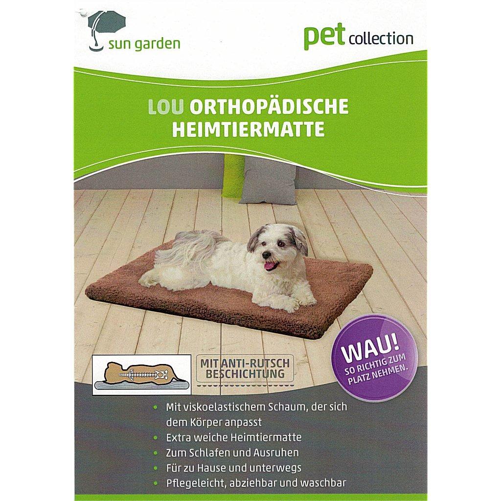 Sun Garden Lou Orthopedisch Hondenkussen 100x70x5cm Grijs