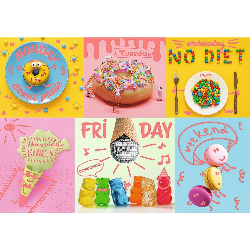 Trefl Neon Color Line Puzzel Sweets 1000 Stukjes