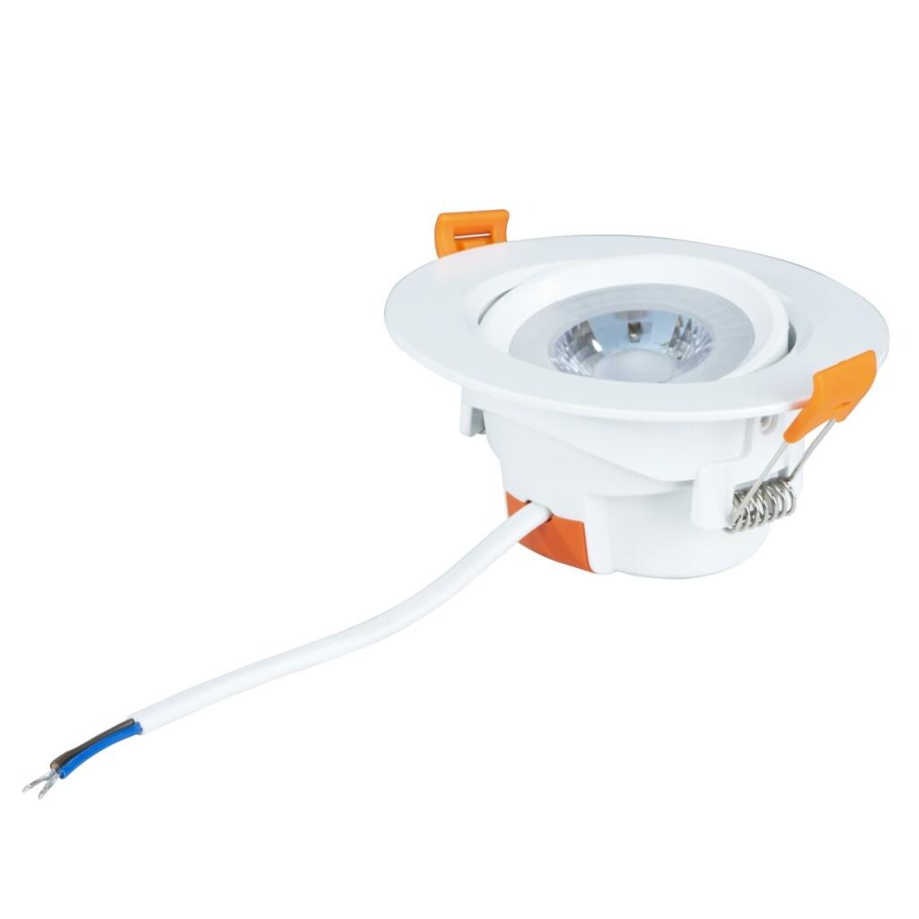 Xavax Led-inbouwspot Set Van 3 5W 350lm Lichtkleur: Warm Wit Fitting: Wit