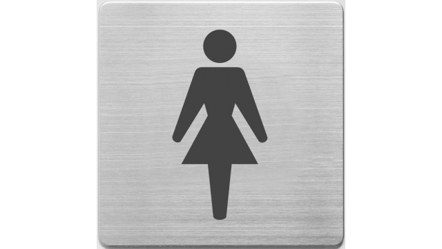 Alco AL-450-1 Pictogram RVS 90x90x1mm - WC Dames -