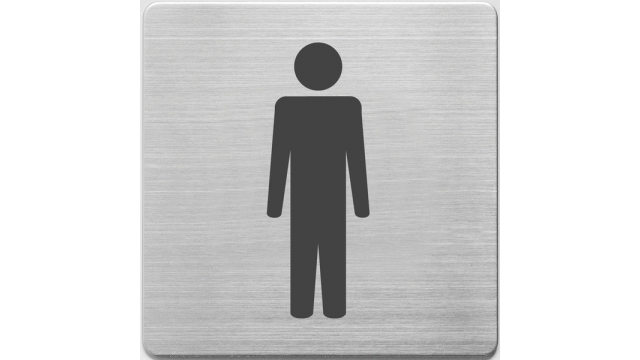 Alco AL-450-2 Pictogram RVS 90x90x1mm - WC Mannen -