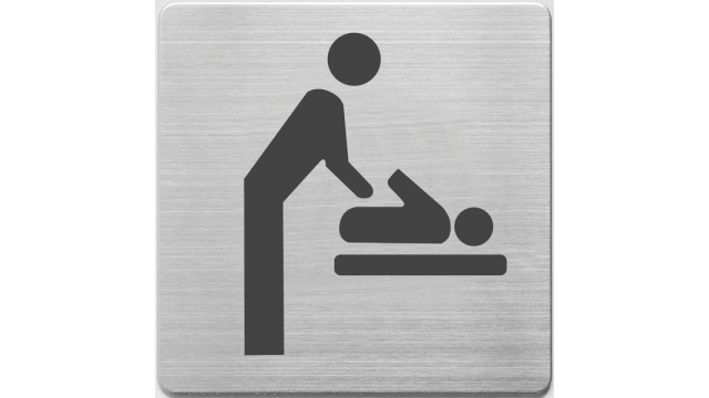 Alco AL-450-7 Pictogram RVS 90x90x1mm - WC Baby Ruimte -