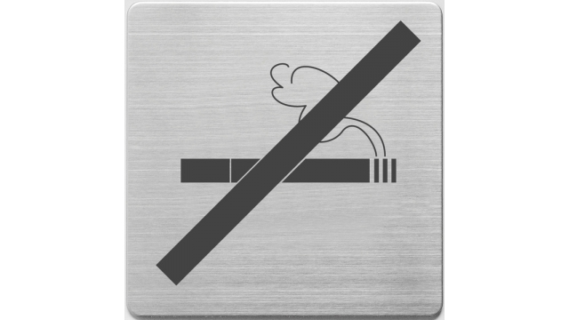 Alco AL-450-13 Pictogram RVS 90x90x1mm - Niet Roken -