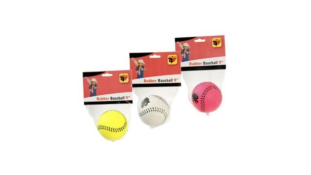 "Honkbal 9"" Rubber Assorti"