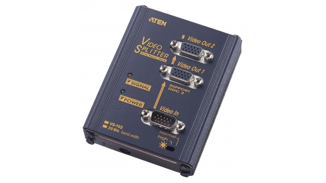 Aten VS102-AT-G 2-poorts Vga-splitter Zwart