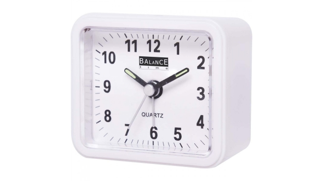 Balance 132941 Alarm Clock Analogue White