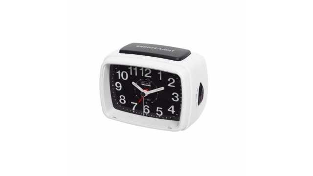 Balance 262176 Quartz Alarm Clock Analogue White/black