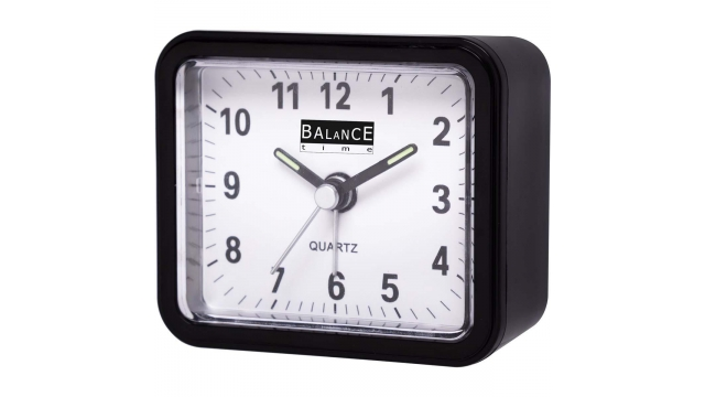 Balance 132879 Alarm Clock Analogue Black