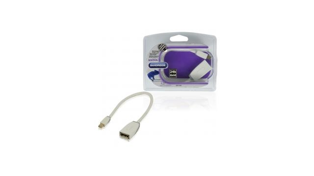 Bandridge Bbm37450w02 Mini Displayport Adapterkabel  0,2 M