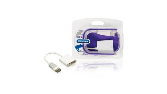 Bandridge BBM37250W02 Displayport Naar Dvi-adapter Displayport Plug - Dvi Contraplug 0,2 M Wit
