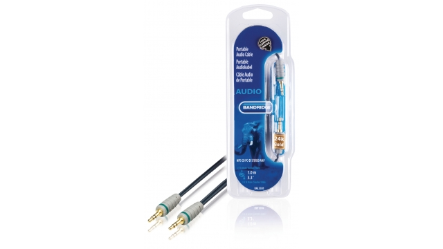 Bandridge BAL3301 Stereo Audiokabel 3.5 Mm Male - 3.5 Mm Male 1.00 M Blauw
