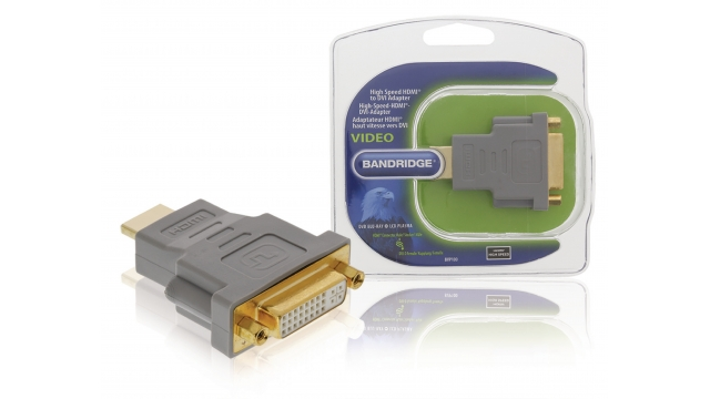 Bandridge BVP100 High Speed Hdmi Adapter Hdmi-connector - Dvi-d 24+1-pins Female Grijs