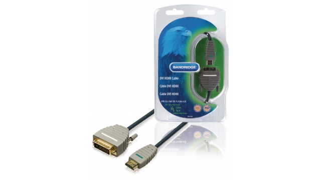 Bandridge BVL1105 High Speed Hdmi Kabel Hdmi-connector - Dvi-d 24+1-pins Male 5.00 M Blauw