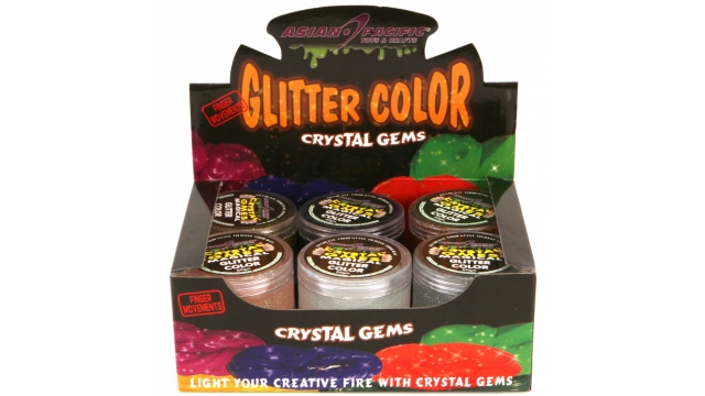 Putty 60 Gr Gems Glitter Assorti Display 12 Stuks