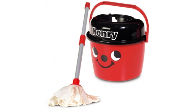 Casdon Little Helper Little Henry Mop en Emmer Rood