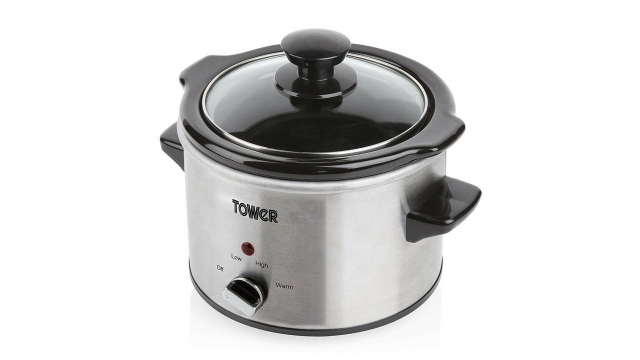 Tower T16020 Slowcooker 1.5L RVS/Zwart