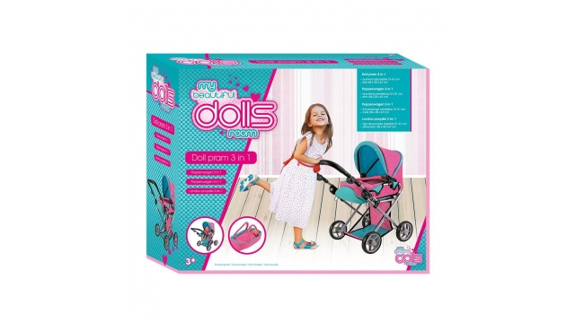 Dolls Room 3in1 Poppenwagen