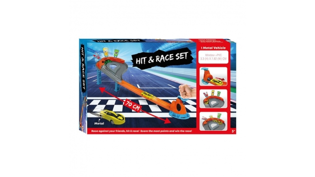 Racebaan Hit and Race Set met Auto