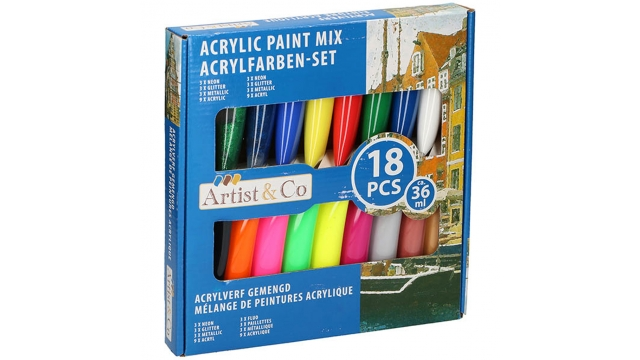 Arties & Co Acrylverf Set 18-delig Mix