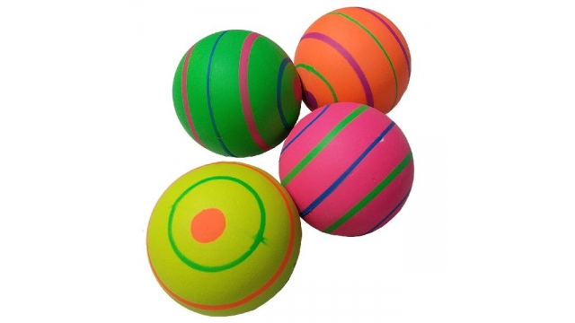 Bounce Ball 63mm 4 Assorti Display 24 Stuks
