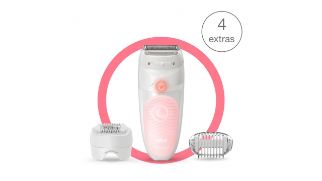 Braun SE5-620 Silk-épil 5 Wet and Dry Epilator Roze/Wit