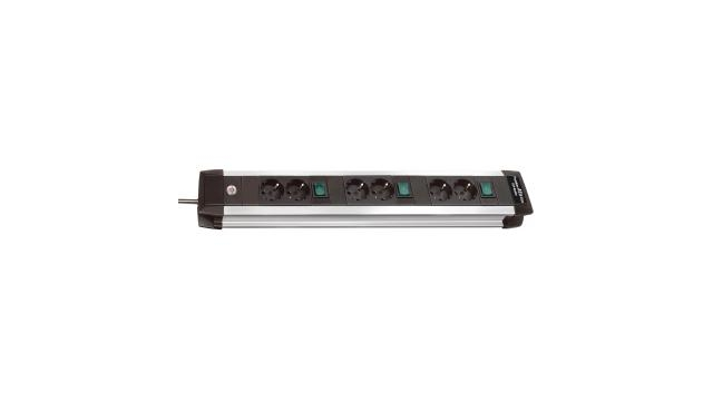 Brennenstuhl  BN-1391000078 Premium-alu-line Technics Extension Socket 3x2-way 3m H05 vv-f 3g1,5 Every 2 Sockets Switched