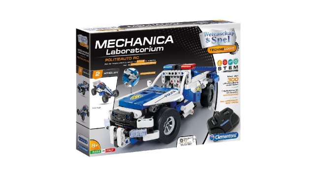 Clementoni Mechanica Laboratorium 2in1 RC Politieauto