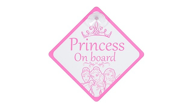 Disney Princess Bordje Baby On Board