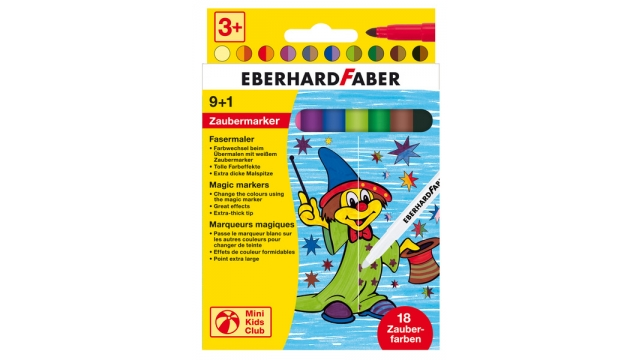 Eberhard Faber EF-551010 Viltstift Magic Marker 9 Kleuren En 1 Tovermarker
