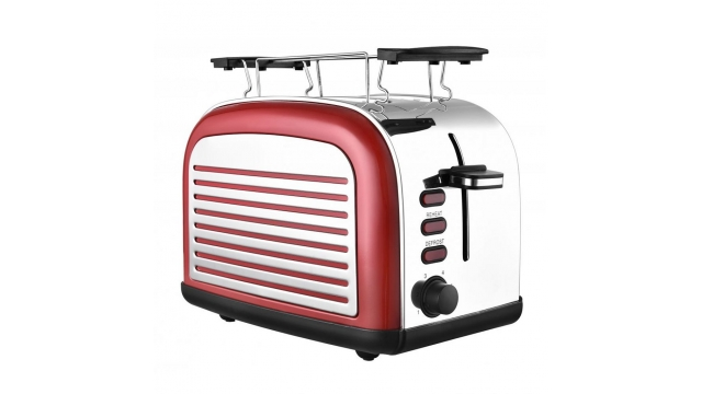 Efbe-Schott TO2500R Retro Broodrooster 1050W Rood/RVS