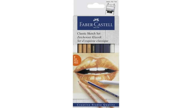 Faber Castell FC-114004 Potloodset Faber-Castell Classic 6-delig