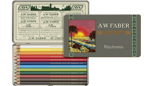 Faber Castell FC-211001 111-jarig Bestaan Limited Edition A.W. Faber-Castell Polychromos Bliketui A 12 Stuks
