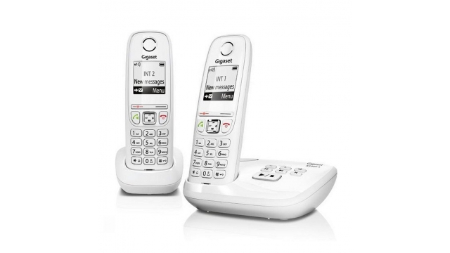 Gigaset AS405A Duo DECT Telefoon + Antwoordapparaat Wit