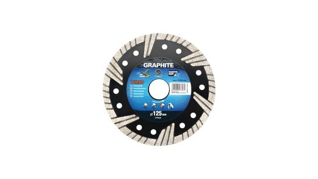 Graphite 57H626 Diamantschijf 125x22x6,0x2,6mm, Turbo, MPA EN13236