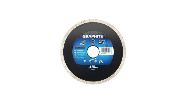 Graphite 57H642 Diamantschijf 125x22x6,0x2,2mm, Continuous, MPA EN13236