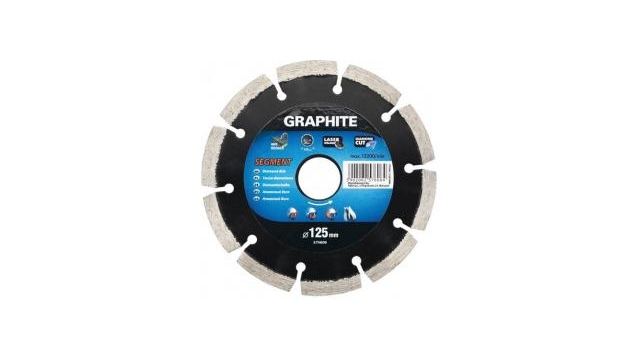 Graphite 57H870 Diamantschijf 200x22x8,0x2,5mm, Segment, MPA EN13236