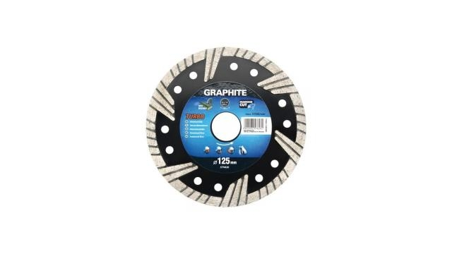 Graphite 57H871 Diamantschijf 200x22x6,0x1,6mm, Turbo, MPA EN13236