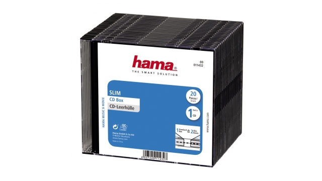 Hama Cd Slim Box 20-P. Red