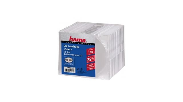Hama CD Slim Box Transparant 25Pak