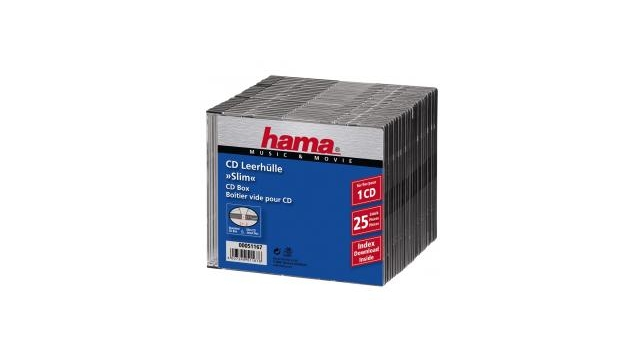 Hama CD Slim Box Zwart 25Pak