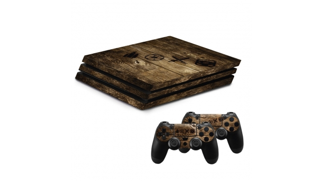 Hama Design-skin Wood Voor PlayStation 4 PRO