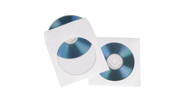 Hama CD/DVD Sleeves Papier Wit 50-pack