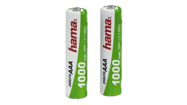 Hama Ready4Power NiMH Rechargeable Batteries 2x AAA (Micro - HR03) 1000 MAh