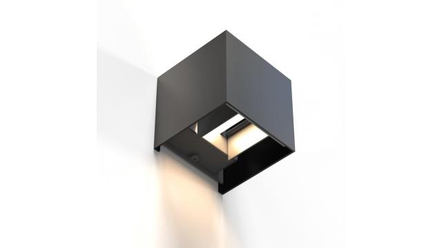 Hama Wifi-wandlamp Vierkant 10 Cm IP44 Voor Binnen En Buiten Zwart